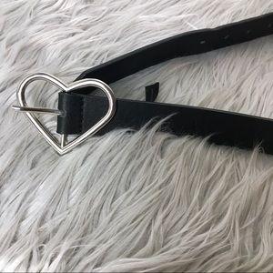Silver Heart Fashion Belt